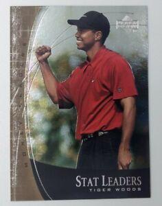 2001 01 Upper Deck Stat Leaders Money Leader Tiger Woods #SL17, Golf