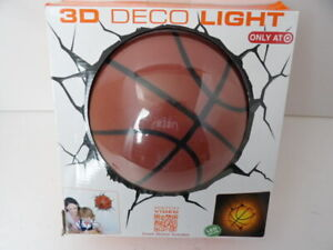 Light 3D Light FX Sports Basketball LED Deco Light with Crack Sticker NIB