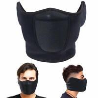 Fleece Ski Half Face Mask Mouth Cover Winter Ear Warmer Face Mask for Men Women