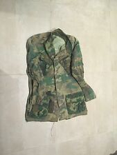 "vietnam CAMO  slant,pocket rip stop, JACKET100% cotton,USED ,MEDIUM,1969 ""A"""