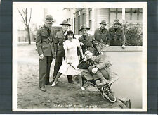 BUSTER KEATON + ELSIE AMES SURROUNDED BY ARMY OFFICERS - 1941 COLUMBIA SHORT