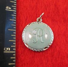 14KT GOLD EP LETTER R ROUND INITIAL DISC CHARM WAS $8.95