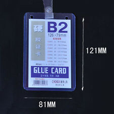 Custom Lanyard ID Badge Card Key Holder Ring Case Pocket Neck Strap LC