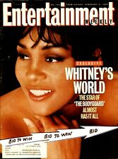 WHITNEY HOUSTON Entertainment Weekly Mag February 1993 BODYGUARD Audrey Hepburn