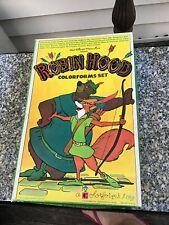 Vintage Retro Walt Disney Robin Hood Colorforms Set Toy