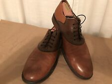 Johnston & Murphy Conard Saddle Men US 10.5 Tan and Brown Pre Owned