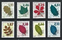 FRANCE MNH** Set of 8 'TREE LEAVES' 1994 &1996. SG 3214-17 YT 232-239 PRECANCELS