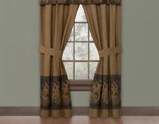BROWNING Oak Tree Buckmark Rod Pocket Curtain Drapes-Hunting Deer Treatment