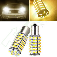 2x Turn Signal Brake 2016 Warm White 1156 Tail 12V 120SMD 7503 1141 LED Lights