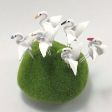 25 Pcs White Stork Bird Clay Handmade Miniature Garden Lawn Decor Ornament