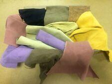 1 Kg Colores Mezclados De Gamuza, piezas de buen tamaño, alta calidad genuino cuero