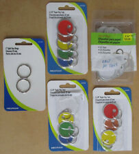 "33 Count Hillman & Hy-Ko Multicolored Paper Id Tags & Key Rings 1 1/4"" Diameter"