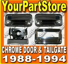 88-94 CHEVY GMC PU PICKUP TRUCK CHROME DOOR TAILGATE HANDLE SET COMPLETE ASSBLY!