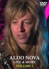 Aldo Nova Live/Rare DVD Phil X Jon Bon Jovi Triumph Rush Canadian AOR Rock Metal