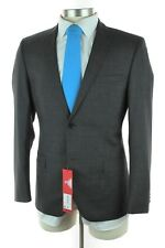 NWT HUGO BOSS RED LABEL Anion / Hets Grey Wool 2Btn Flat Front Suit 50 40 40S