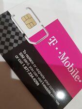 T-Mobile UNLIMITED Data Talk Preloaded One Sim Card USA Canada Mexico Travel