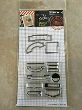 Clearly Kelly Hero Arts Flags Clear Acrylic Stamp & Cut Die Set DC199 NEW