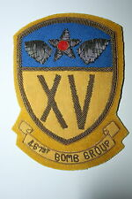 461ST BOMB GROUP PATCH 15TH AAF AIR FORCE A2 JACKET WW2 COPY BULLION WIRE