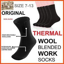 12x Wool Blend Thermal Heat Thick Mens Men Cushion Work Socks Winter Sock S 7-13