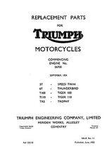 1955 Triumph pre-unit models parts catalogue