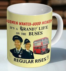 On The Buses Recruitment Poster Ceramic Coffee Mug - Cup