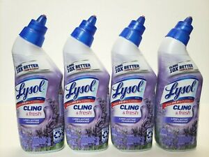 Lysol Toilet Bowl Cleaner 10X Cleaning Kills 99.9 % Viruses Bacteria Lavender