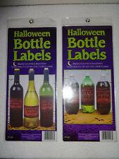 18 Halloween Bottle Labels Nip