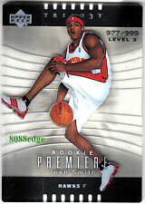 2004-05 TRILOGY ROOKIE CARD #108: JOSH SMITH #977/999 RC HAWKS/ROCKETS/CLIPPERS