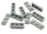 Lego 10 New Light Bluish Gray Plates 1 x 3 Dot Pieces