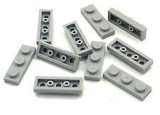 Lego 10 New Light Bluish Gray Plates 1 x 3 Dot Pieces