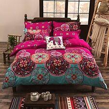 Queen Duvet Cover Set Hippie Bohemian Mandala Quilt Doona Indian Comforter New