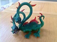 Elc due teste Dragone Fantasy Mitologica figura giocattolo Torre di Doom