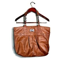 Kenneth Cole Reaction Tan Faux Leather Purse Tote Bag