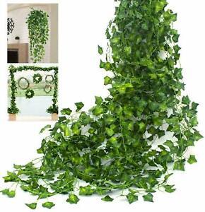 Set of 6 Artificial Ivy Leaf Plant Fake Hanging Garland Plant Vine Foliage Decor
