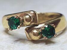 9ct Gold Antique Emerald ring