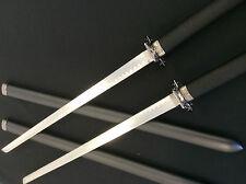 Double Black Ninja Sword w/  Back Strap Harness