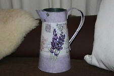 LAVENDER ''POST'' JUG PITCHER VASE VINTAGE SHABBY  WEDDING TABLE DECORATION