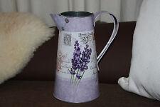"""Lavender """"Post"""" Caraffa Brocca Vaso Vintage Shabby pitturare Decorazione Tavola Di Nozze"""