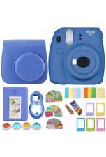 Fujifilm Instax Mini 9 Blue Instant Polaroid Film Camera +Case+ Accessories