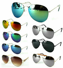 Aviator Sonnenbrille Pilotenbrille Spiegelbrille Retro Gestell Damen Herren GiL