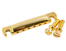 Kluson Gold Aluminum US made Stop tailpiece US thread studs fit Gibson KSTOPAL-G