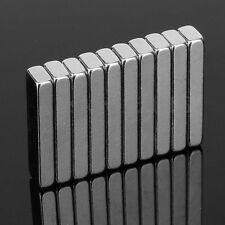 10Pcs 20 x 5 x 3mm Block Super Strong Powerful Cuboid Rare Earth Magnets N35