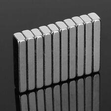 10Pcs 20 x 5 x 3mm Block Super Strong Powerful Cuboid Rare Earth Magnets N35