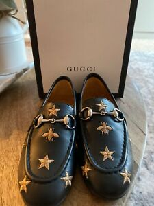 Kids Gucci Jordaan Bee Loafers. Black. Sold out Retail $490. SZ 28EU / 11US