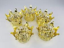 12 Gold Fillable crowns Baby Shower Favors Prizes Prince or princess Decorations