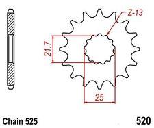 KR Ritzel 16Z Teilung 525 YAMAHA TDM 850 91-01 New... front sprocket