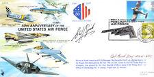 CC32 USAF cover signed BUD DAY CMoH Vietnam medal holder & AVM Spink