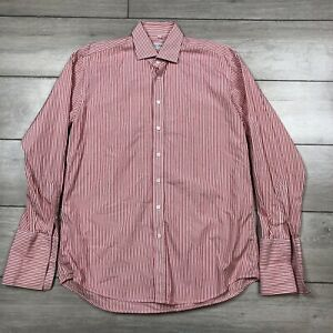 """Derek Rose Shirt Stripe Red White Large 44"""" Chest"""