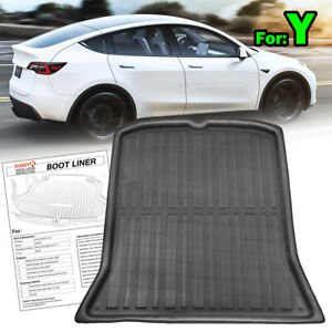 For Tesla Model Y 2020-2021 Tailored Rear Boot Cargo Liner Trunk Floor Mat Tray