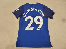 Everton #29 Dominic Calvert-Lewin Game Worn Goal Scored Signed Poppy Jersey 2017